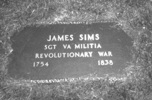 James SIMS (1754-1845) Pioneer of Nicholas County, West Virginia