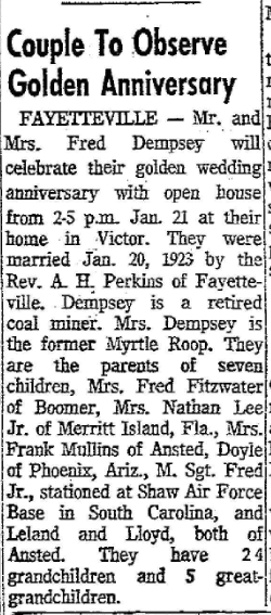 [Source: Raleigh Register (Beckley), Wednesday Afternoon, January 10, 1973]