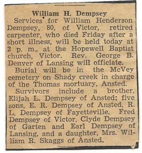 MRIN08552 William Henderson Dempsey obit