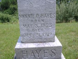 FAG Angela Harkins  (#46845221) WV Mason Hambrick Cemetery Minnie O. Hayes