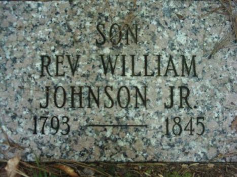 MRIN02003 William Johnson Jr. gravemarker