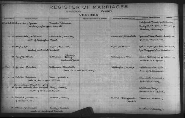 18 Nov 1794 Peters-Lively Marriage record  007578824_00382