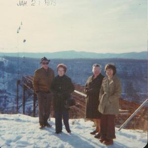 1975-01-21 Granddaddy, Grandma, Mom, Bomi