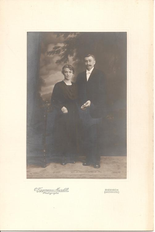 MRIN00003 1923-06-15 Jean-Pierre Meder and Catherine Schwartz wedding