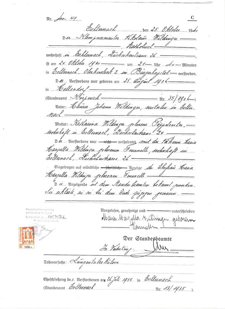 MRIN01117 1941 Nicolas Wildinger death