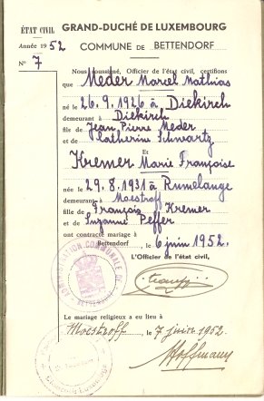 MRIN04646 1952-06-02 Marcel Meder and Maisy Kremer family book 2