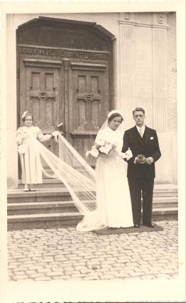 MRIN04646 1952-06-02 Marcel Meder and Maisy Kremer wedding 2