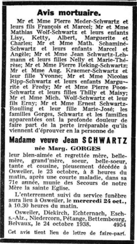 MRIN00004 1938-10-24 Marg. Schwartz-Gorges obit