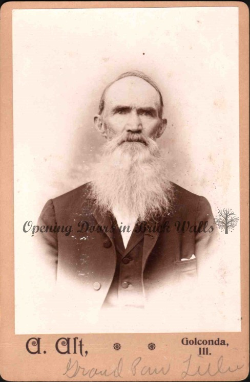 52 Ancestors: #14 Albert Spencer LILLIE (1848-1913) ~ Old Photographs Saved From Trash Can