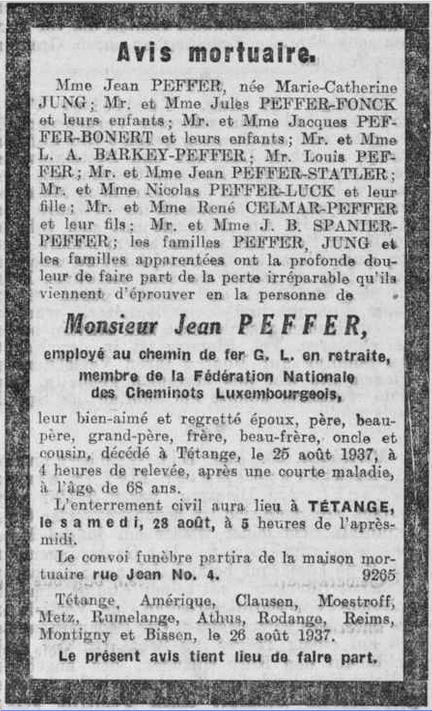 MRIN38411 1937 Jean Peffer avis mortuaire