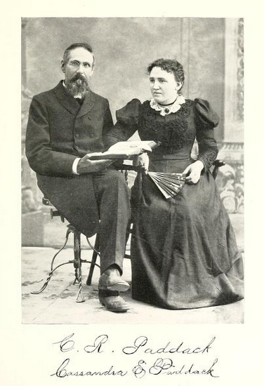 Charles R Paddack and wife Casandra ca. 1898