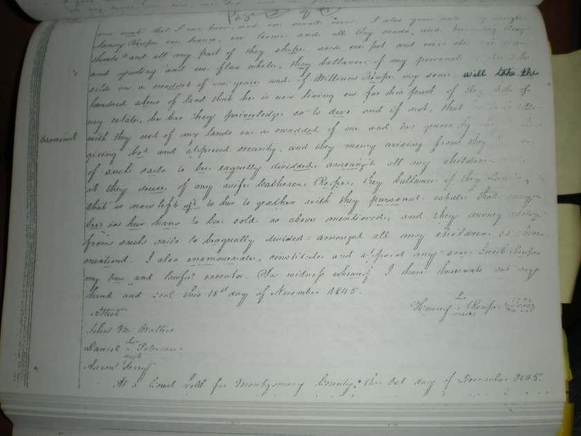 MRIN00553 1845 Henry Rupe Will 2tiny