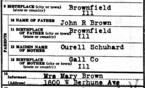 1929georgehbrowndeath