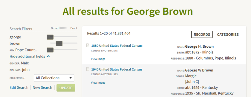 georgebrownresult