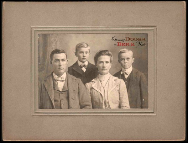 Old Photographs Saved From Trash Can ~ #76 The LILLIE FamilyPortrait