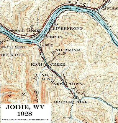 1928-jodie-wv-usgs-map-fayetteville-quadrangle