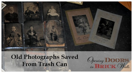 Old Photographs Saved From Trash Can ~ #91 A Series of Brick Wall Photos
