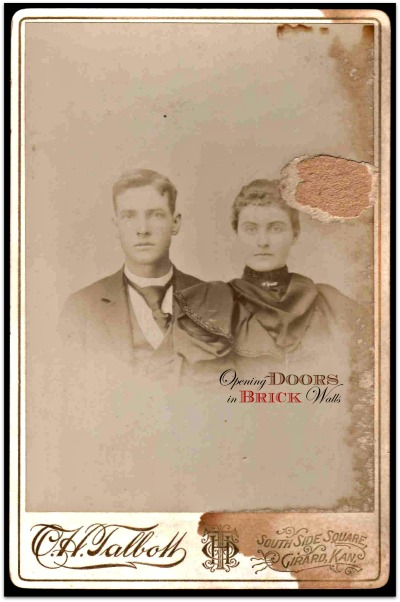 Carte De Visite Opening Doors In Brick Walls