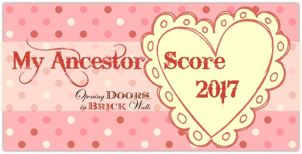 My Ancestor Score as of Valentine's Day 2017