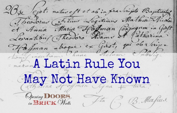 A Latin Rule You May Not Have Known