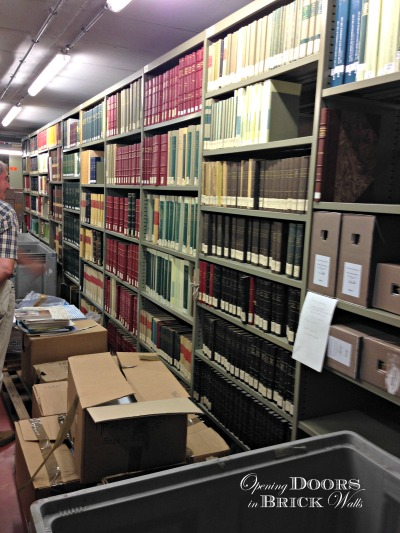 The Area Of The Archives Which Is Normally Off Limits To The Public.  Packing Boxes And Containers Are Being Filled In Preparation For The Move  To The New ...