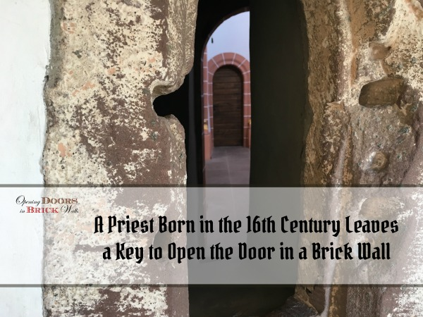 A Priest Born in the 16th Century Leaves a Key to Open the Door in a Brick Wall