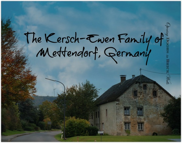 52 Ancestors: #39 The Last of the German Fourth Great-Grandparents