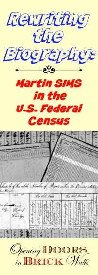 U.S. Federal Census Analysis for Martin SIMS
