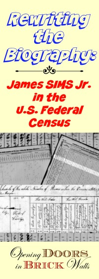 Rewriting the Biography: James SIMS Jr. in the U.S. Federal Census