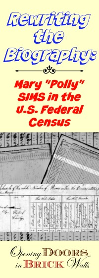 Rewriting the Biography: Mary SIMS in the U.S. Federal Census