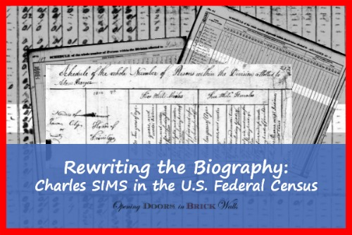 Rewriting the Biography: Charles SIMS in the U.S. Federal Census