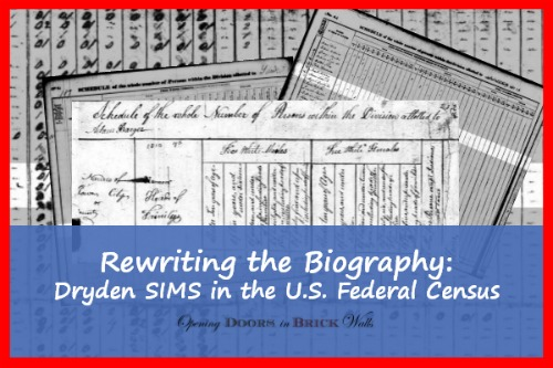 Rewriting the Biography: Dryden SIMS in the U.S. Federal Census