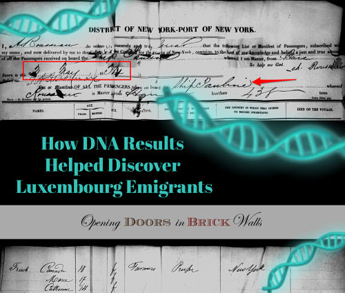 How DNA Results Helped Discover Luxembourg Emigrants