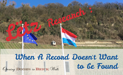 Lëtz Research – When A Record Doesn't Want to be Found