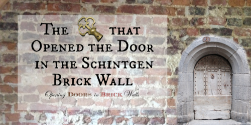 The Key that Opened the Door in the Schintgen Brick Wall