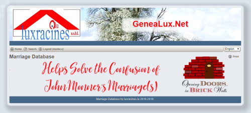 Luxracines' Marriage Database Helps Solve the Confusion of John Monner's Marriage(s)