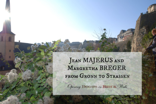 Jean MAJERUS and Margretha BREGER from Gronn to Strassen