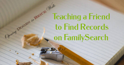 Teaching a Friend to Find Records on FamilySearch