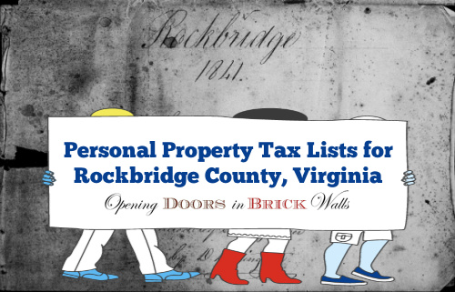 Personal Property Tax Lists for Rockbridge County, Virginia